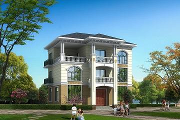 13x10米三层别墅设计图,带效果图,