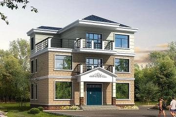 三层中式自建别墅,带露台