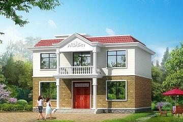 经典二层平顶房屋设计图,12m*11.5m,经济实用型设计方案