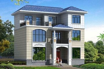 经典三层自建房屋设计图,占地120平方米左右