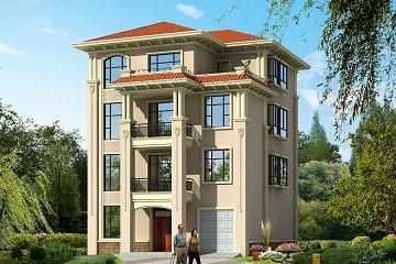 11.5*16.9四层自建别墅设计图,一梯多户