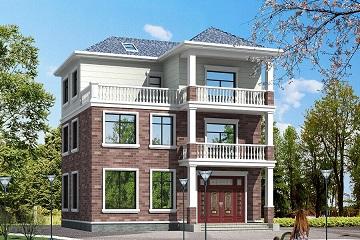 12*11m中式三层自建别墅,带露台,占地127平方米农村自建房设计图