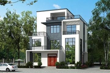 12.4*13.5m四层中式平顶别墅设计图,含全套施工图