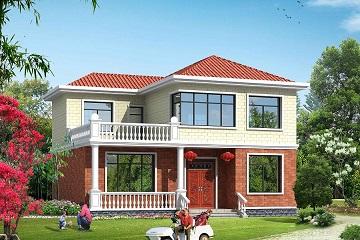 占139.61㎡二层温馨小别墅设计图,15*10m二层自建房