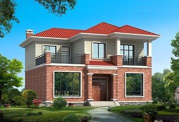 销量非常高的一款二层自建房屋设计图,造价合理,非常适合做农村自建房