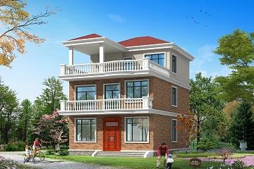 8.6*13m小户型自建房屋设计图,造价28万左右,经济实用