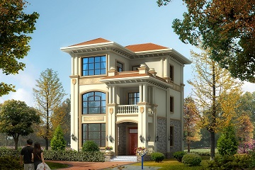 8.4*12m精致三层自建房屋设计图,造价合理,经济实用