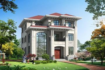 12*17m三层欧式再见别墅设计图,布局完善,符合大多数家庭使用需求