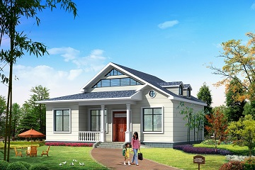 12*10m一层带阁楼自建房屋设计图,造价12万左右,符合大多数家庭需求