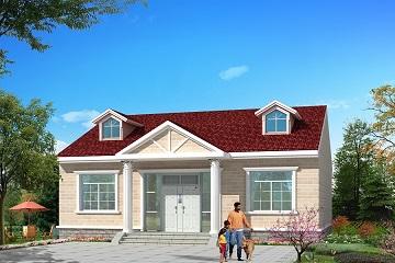 造价12万左右,11.8m*12.2m一层半自建房屋设计图,户型合理,经济实用