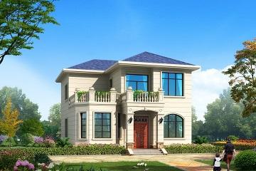 10*12m小户型欧式二层自建别墅施工图,含全套完善施工图纸