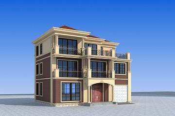 中式高端三层自建别墅设计图,带有室内车库