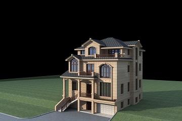 12*13m复古欧式三层自建别墅设计图,带有地下室及地下车库
