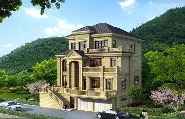 欧式高端自建别墅设计图,带有大面积地下室,可做车库