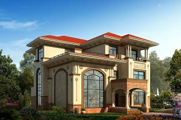 14*17m欧式三层复式别墅设计图,造价50万左右