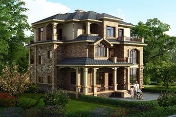古典三层别墅设计图,布局完善合理,高端大气