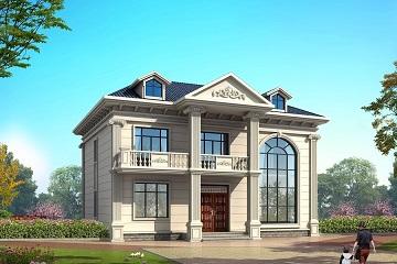 一款带有老虎窗,采光非常好的复式二层欧式自建别墅设计图,含全套完善施工图纸