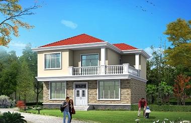 10.7*9.3m小户型二层自建房屋设计图,造价20万左右,经济实用