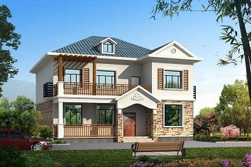 美观的二层田园小别墅设计图,造价30万左右