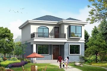 超高销量的一款小户型二层自建房屋设计图,多个配色方案