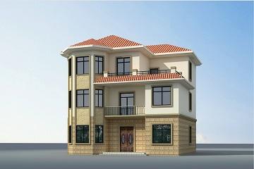 经典三层田园复式别墅设计图,造价35万左右,经济实用