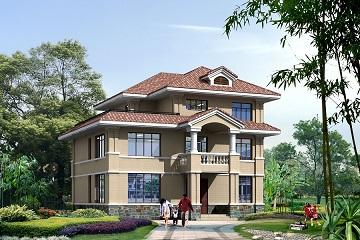 现代简约三层复式别墅设计图,布局合理,经济实用