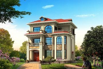 小户型欧式三层复式别墅设计图,造价30万左右,美观实用
