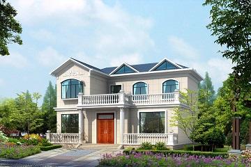 简约二层自建别墅设计图,美观精致,布局完善