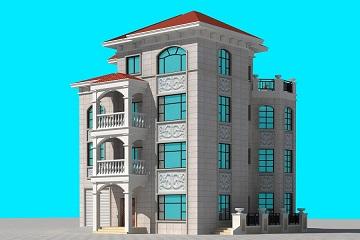 四层复式别墅设计图,带有室内车库,美观精致