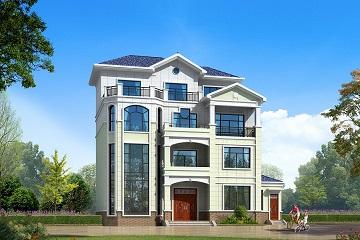 精品4层自建复式别墅设计图,18*11m,造价50万左右