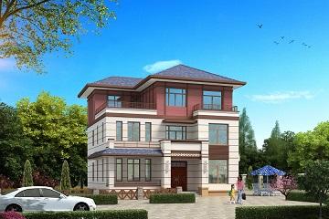 精品三层中式自建复式别墅设计,造价30万左右,经济实用