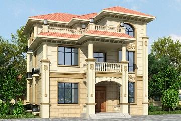 经典欧式三层自建别墅设计图农村房屋施工图