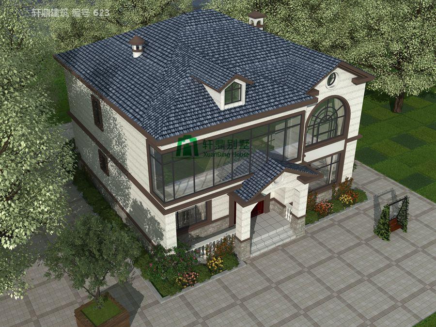 二层田园风格自建别墅设计图施工图4.jpg