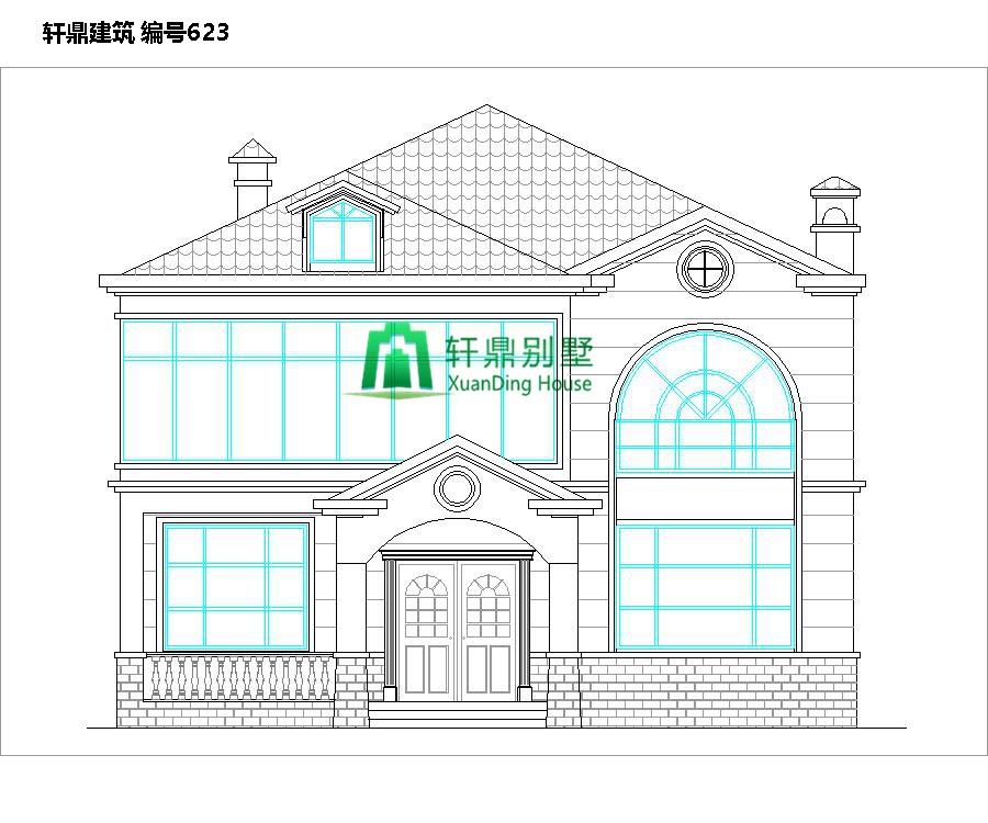 二层田园风格自建别墅设计施工图1.jpg