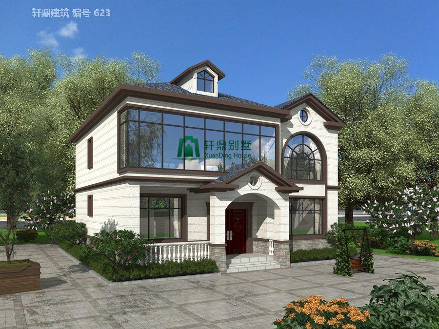 二层田园风格自建别墅设计图施工图1.jpg