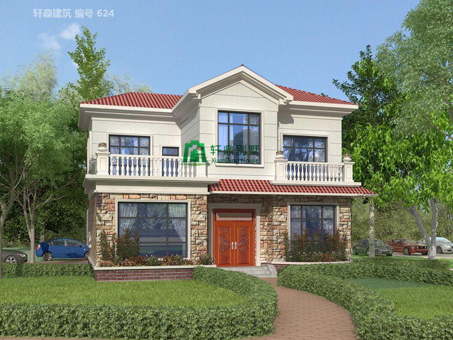 1新农村时尚二层小别墅设计图1.jpg