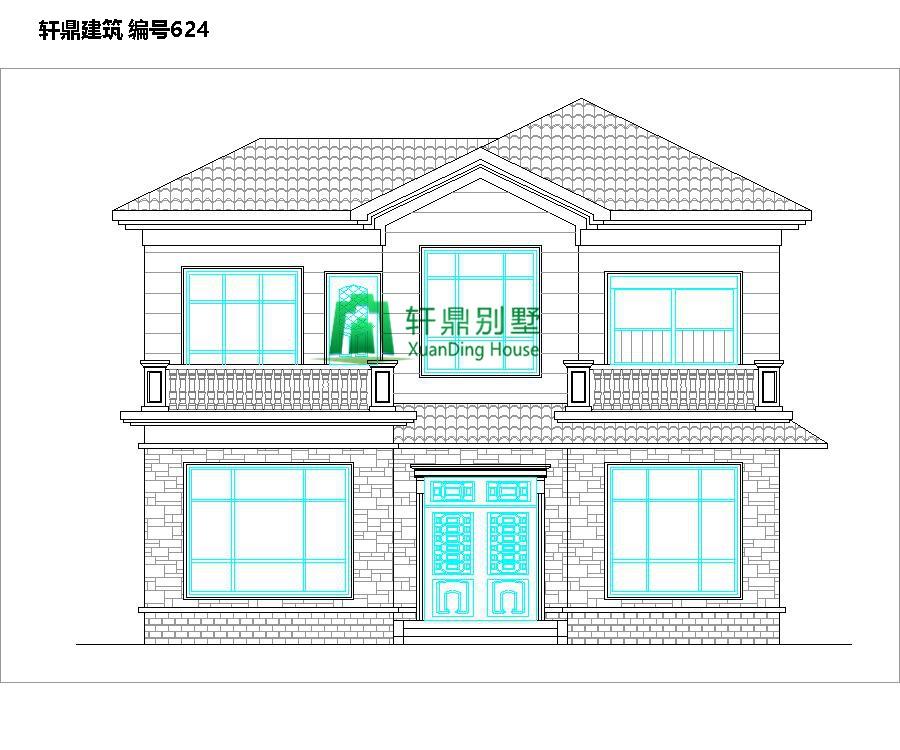 新农村时尚二层小别墅设计图1.jpg