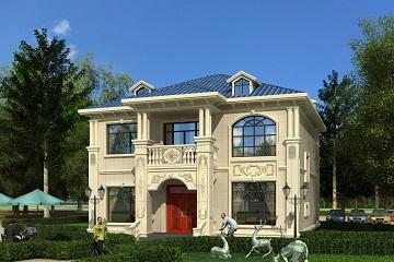 小户型欧式自建别墅设计施工图纸,小巧精致小户型首选