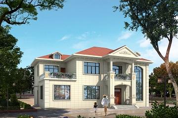 现代简约二层自建别墅设计施工图,农村自建二层房屋