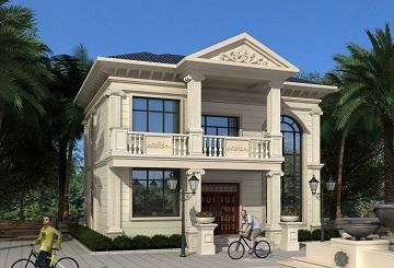小户型欧式二层自建别墅设计图,农村自建房屋
