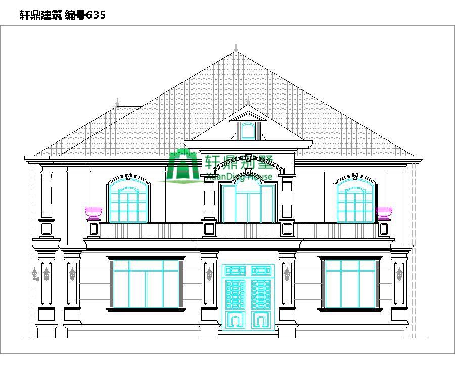 二层带院别墅设计图1.jpg