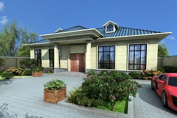 一层带院自建房屋设计图,经济实用款自建房屋