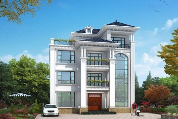 经典四层欧式自建别墅设计图,高端大气的农村自建房屋