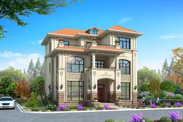 欧式三层自建房屋设计图,农村自建房