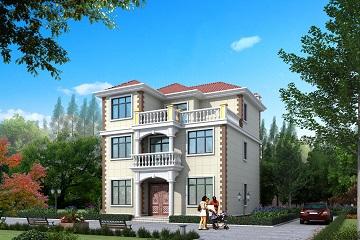 经典三层自建别墅设计图,农村三层自建房屋
