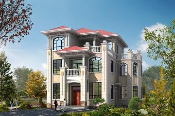 欧式三层自建别墅设计图,农村自建房屋设计