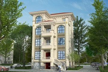 带有架空层的小户型欧式四层自建房屋设计施工图,美观实用的自建别墅设计