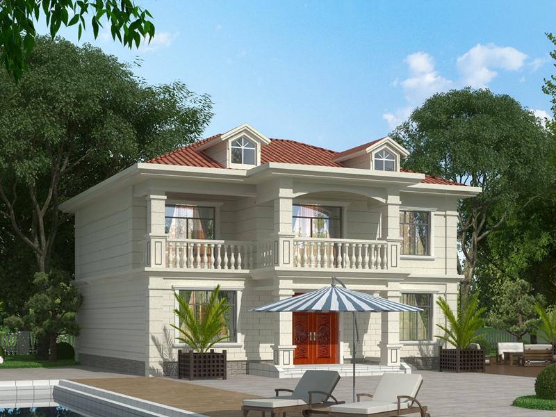 经典小二层自建房屋设计施工图,农村自建别墅设计