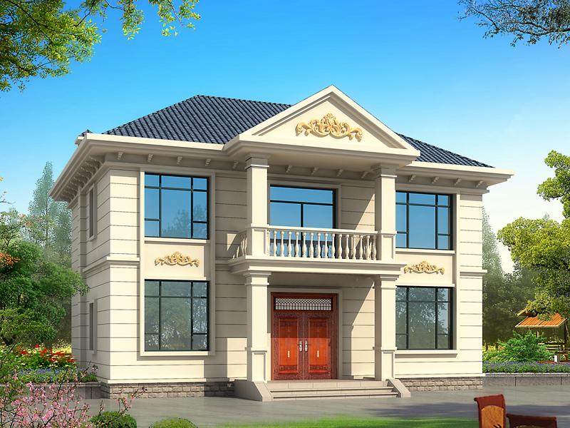 小户型经典自建别墅设计图,精品欧式自建二层房屋