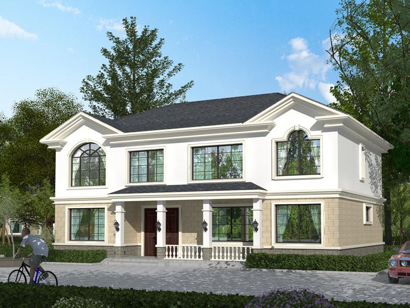 中式田园风格自建小别墅设计图,农村自建二层房屋